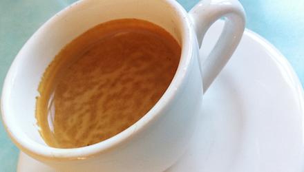 Espresso als Nachspeise
